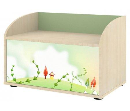 Сундук Браво 05 ясень асахи / фисташковыйАксессуары<br>Материал фасада шкафа: ЛДСП с цветной глянцевой наклейкой.<br>Габариты сундука (ШxГxВ): 69,4 x 43,6 x 47,2 см.<br>