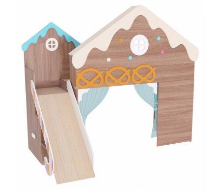 Детский комплекс Пряничный домикГотовые наборы<br>Детский комплекс Пряничный домик выполнен из ЛДСП. <br> <br>  <br> <br> <br> Данная модель входит в модульный набор детской мебели Пряничный домик. Вы можете приобрести комплекс как отдельно, так и в комплекте. <br>  <br> <br>   <br>     <br>      <br>     <br>   <br>    Поставляется в разобранном виде - 5 упаковок.<br><br>Ширина: 232 см<br>Глубина: 159,5 см<br>Высота: 203,3 см<br>Материал: ЛДСП<br>Цвет: ясень шимо темный / ясень шимо светлый<br>Объем упаковки: 0,356 куб. м<br>Вес: 183 кг