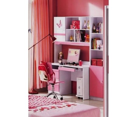 Компьютерные столы Piccola MK-4617-PI розовый / белый  Комплект Мик