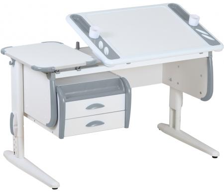 Растущая парта TECHNO СУТ 31 с навесной тумбой ТСН 01-01 белый / серыйРастущие парты<br>Параметры парты (Г x Ш x В): 55 см x 120 см x 53 см.<br>Параметры тумбы ( Ш х Г х В): 58.5 см - 43.5 см - 28.5 см.<br>