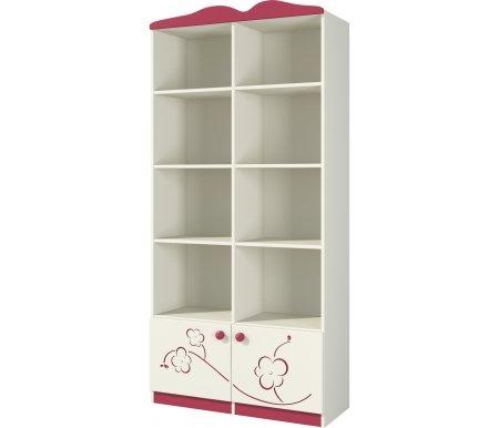 Шкаф Сакура Ш90-1Д0Книжные шкафы<br>Удобный и практичный шкаф из МДФ. Состоит из восьми открытых полок и двух отделений с дверцами внизу. Прекрасно подойдет для хранения книг и многих других вещей, легко впишется в интерьер. Фасад дверей декорирован рисунком в виде цветов сакуры. <br> <br>  <br> <br> <br> <br>   <br>     <br>       <br>         <br>           <br>             <br>               <br>                 <br>                   <br>                    Материал фасада: МДФ-16 Kronospan Szczecinek (Польша), ПВХ Imawell (Германия), краска Sayerlack (Италия).<br>                   <br>                    Материал корпуса: ДСП-16/25 Kronospan Szczecinek (Польша).<br>                   <br>                       Кромка ПВХ 2.0 мм. <br>                  Материал фурнитуры: Hettich (Германия), Gamet, Patrex (Польша).<br><br>Ширина: 89 см<br>Глубина: 37 см<br>Высота: 182 см<br>Материал: МДФ, ДСП, ПВХ<br>Цвет: крем (сакура)