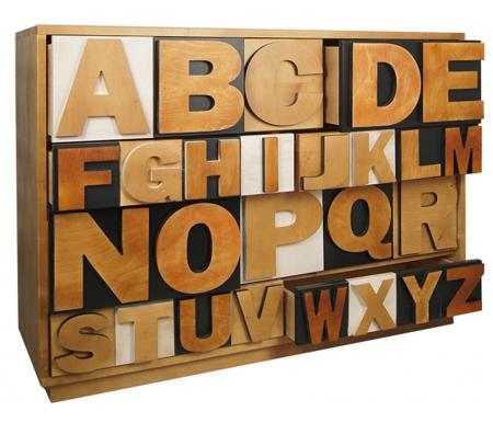 Купить Комод Этажерка, Alphabeto Birch AL-01/2ETG/2, Россия, разноцветный