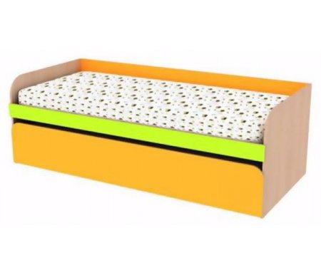 Кровать детская с механизмом Сити 4.3Кровати для подростков<br>Кровать Сити 4.3выполнена из ЛДСП (толщина 16 мм), покрытой кромкой ПВХ (0,4 мм и 1,0 мм). Все углы кровати скруглены, что обезопасит сон ребенка. Размер спального места в разобранном виде - 196 см х 163 см, что позволяет с комфортом разместить двух детей. <br> <br>  <br> <br> <br>Высота спального места - 32 см.<br> <br> <br>  <br> <br> <br> <br>   <br>    Поставляется в разобранном виде - 5 упаковок.<br>   <br>     <br>      <br>     <br>   <br>    Матрас не входит в стоимость кровати! Необходимые размеры матраса для кровати - 80 см х 190 см.<br>   <br>     <br>      <br>     <br>   <br>     <br>      <br>     <br>       <br>        <br>       <br>     <br>   <br> <br>   <br>    Выбрать матрас<br>   <br>    Матрас не входит в стоимость кровати, но у нас вы можете приобрести ортопедический матрас подходящего размера. Доступен широкий ассортимент, посмотреть и выбрать можно в разделе матрасов. При возникновении вопросов обращайтесь к нашим менеджерам.<br><br>Размер спального места: 80 см х 190 см<br>Габариты кровати: 85 см х 196 см<br>Высота: 65 см<br>Материал: ЛДСП, ПВХ кромка<br>Цвет: дуб млечный / оранжевый / салатовый<br>Объем упаковки: 0,161 куб. м<br>Вес: 63 кг