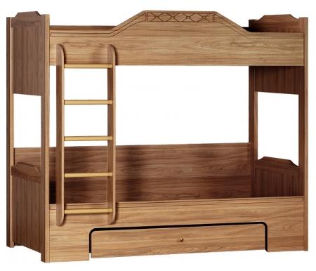 Купить Двухъярусная кровать Яна, Леон 543 90х200 см акация мали, Россия