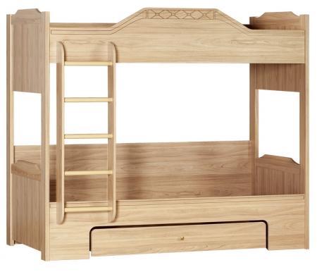 Купить Двухъярусная кровать Яна, Леон 543 90х200 см вяз, Россия