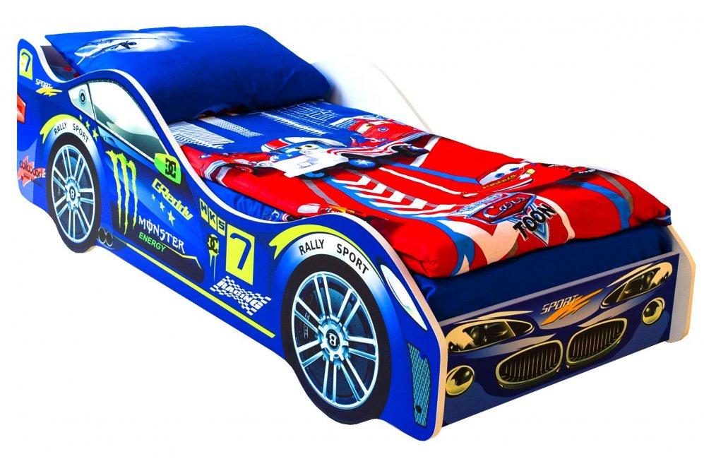 Кровать-машина Пилот синий