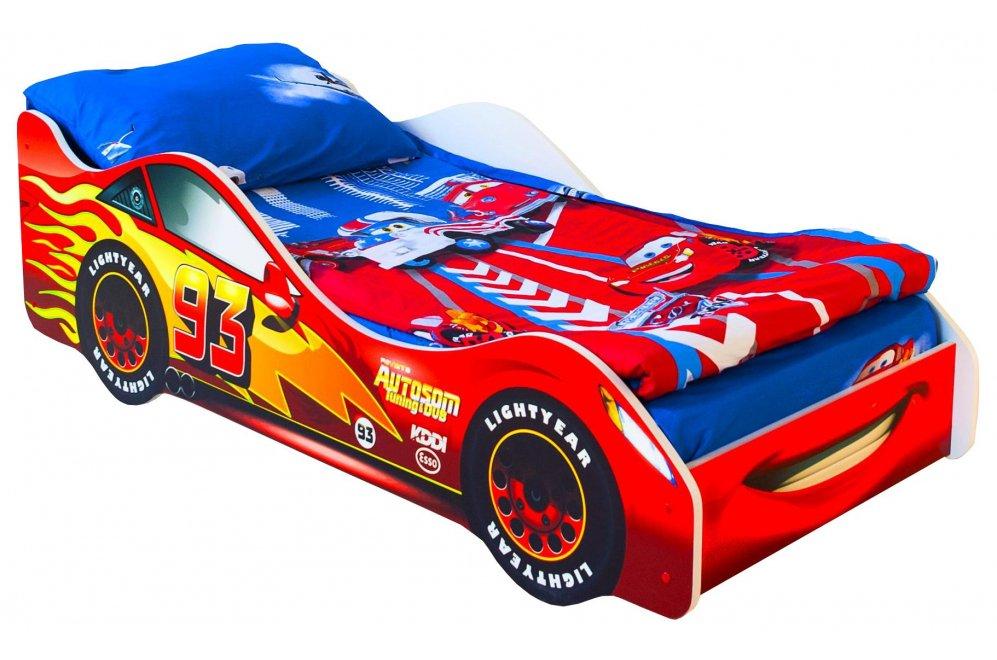 Кровать-машина Старт красный