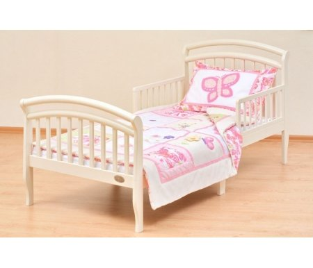 Кровать Grande слоновая костьКровати от трех лет<br>Красивая и удобная кровать Grande для детей дошкольного возраста изготовлена из массива сосны. <br>Эта модель выглядит очень изящно благодаря плавным линиям и красивым съемным бортикам. <br> <br>Наличие реечного ортопедического основания делает эту кровать незаменимой для вашего ребенка. <br> <br>Отличное изделие высокого качества легко впишется в интерьер любой современной детской комнаты.<br> <br> <br>  <br> <br> <br>Высота от пола до основания: 40 см.<br> <br>Размер спального места: 80 см х 160 см.<br>