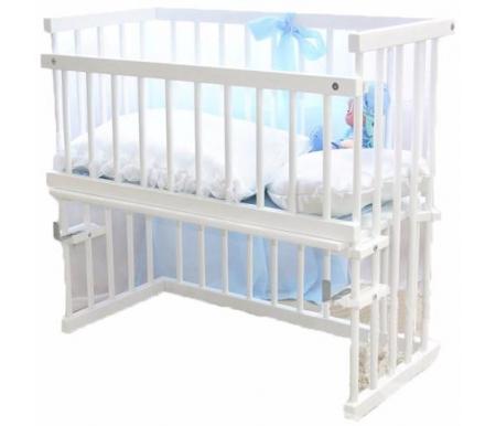 Купить Кровать детская Красная звезда, Малуша С751, белый, Массив дерева, дерево