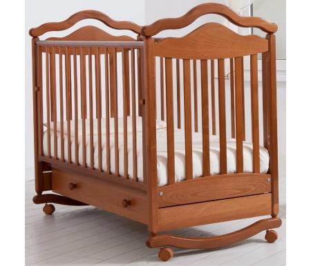 Кроватки для новорожденных Анжелика  Кровать детская на колесиках с дугой для качания Gandylyan