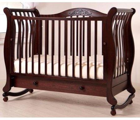 Кроватки для новорожденных Габриэлла  Кровать детская на колесиках с дугой для качания Gandylyan