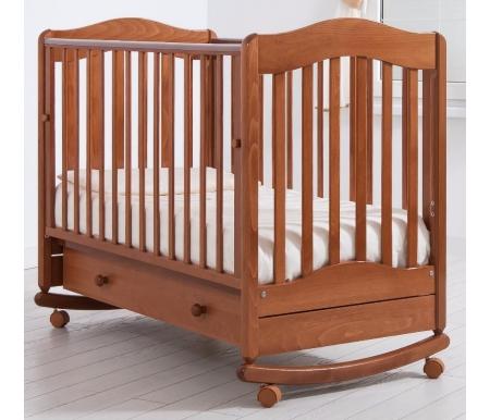 Кровать детская на колесиках с дугой для качания Ванечка вишняКроватки для новорожденных<br>Детская кроватка Ванечка - это образец простоты и сбалансированности линий. <br>Кроватка имеет дуги-полозья для раскачивания и две пары съемных колесиков для более легкого перемещения кроватки в комнатном пространстве.<br> <br>Также вы можете приобрести кроватки с другими спинками Лейла и Симоник.<br>