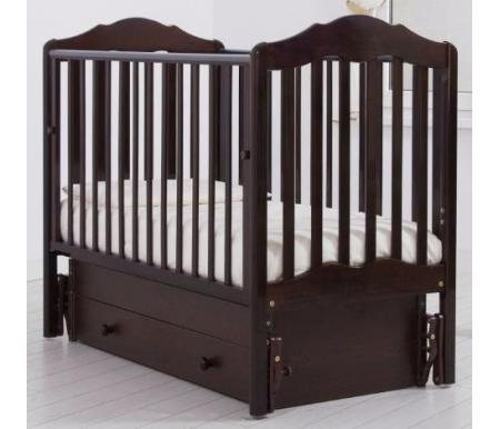 Купить Кровать детская с универсальным маятником Gandylyan, Анастасия, махагон, ДСП, МДФ, дерево
