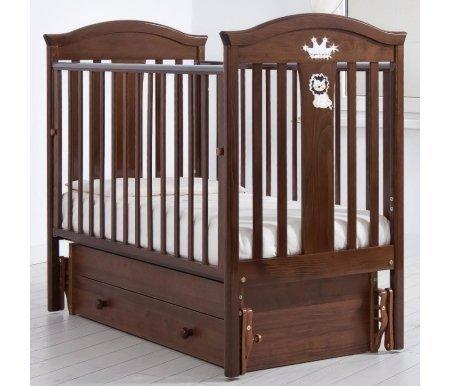 Купить Кровать детская с универсальным маятником Gandylyan, Даниэль, орех, ДСП, МДФ, дерево