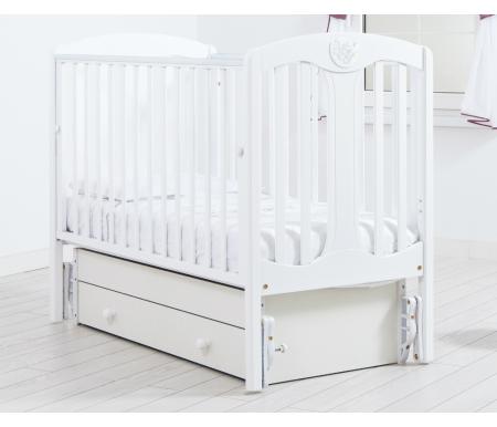 Купить Кровать детская с универсальным маятником Gandylyan, Диана, белый, ДСП, МДФ, дерево