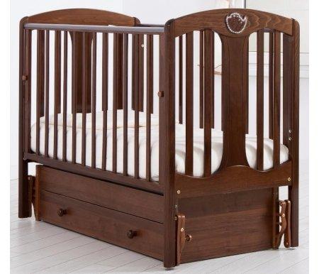 Купить Кровать детская с универсальным маятником Gandylyan, Диана, орех, ДСП, МДФ, дерево