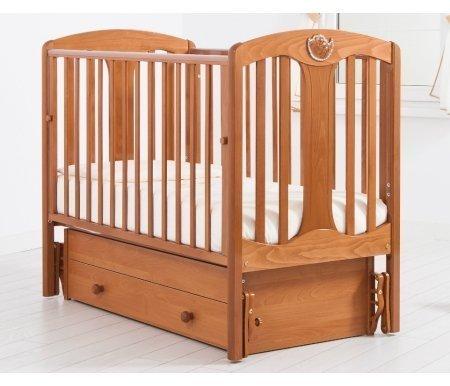 Кровать детская с универсальным маятником Диана вишняКроватки для новорожденных<br>Кровать детская с универсальным маятником Диана позволяет раскачивать ложе новорожденного в 2-х направлениях: в продольном и поперечном (направление выбирается при сборке кроватки). <br>Изголовье данной кровати украшено стразами Swarovski.<br>