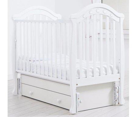 Купить Кровать детская с универсальным маятником Gandylyan, Джозеппе, белый, ДСП, МДФ, дерево