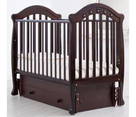 Купить Кровать детская с универсальным маятником Gandylyan, Джозеппе, махагон, ДСП, МДФ, дерево