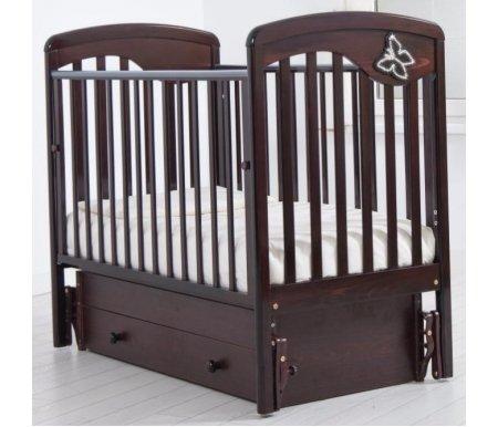 Купить Кровать детская с универсальным маятником Gandylyan, Джулия, махагон, ДСП, МДФ, дерево