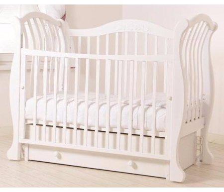 Купить Кровать детская с универсальным маятником Gandylyan, Габриэлла Люкс, белый, ДСП, МДФ, дерево