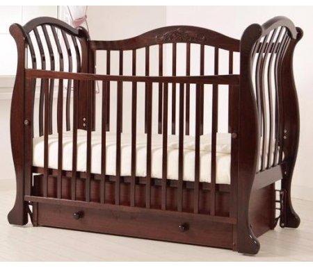 Купить Кровать детская с универсальным маятником Gandylyan, Габриэлла Люкс, махагон, ДСП, МДФ, дерево