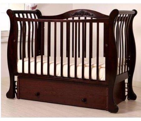 Купить Кровать детская с универсальным маятником Gandylyan, Габриэлла, махагон, ДСП, МДФ, дерево