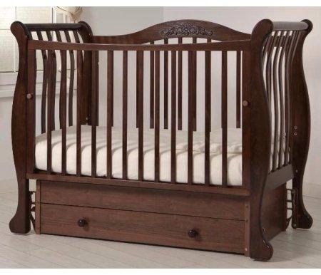 Купить Кровать детская с универсальным маятником Gandylyan, Габриэлла, орех, ДСП, МДФ, дерево