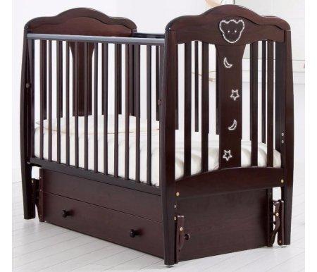Купить Кровать детская с универсальным маятником Gandylyan, Мишель, махагон, ДСП, МДФ, дерево