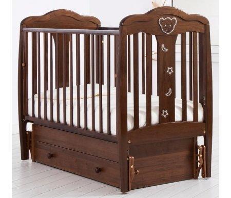 Купить Кровать детская с универсальным маятником Gandylyan, Мишель, орех, ДСП, МДФ, дерево