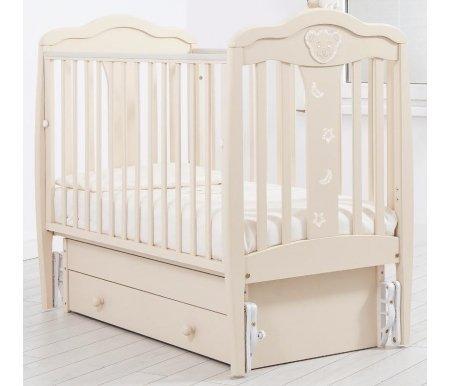 Купить Кровать детская с универсальным маятником Gandylyan, Мишель, слоновая кость, ДСП, МДФ, дерево