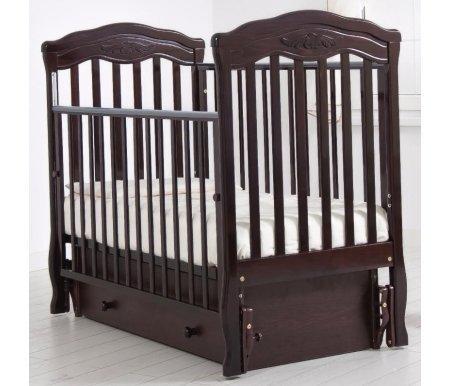 Купить Кровать детская с универсальным маятником Gandylyan, Шарлотта, махагон, ДСП, МДФ, дерево