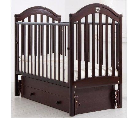 Купить Кровать детская с универсальным маятником Gandylyan, Софи, махагон, ДСП, МДФ, дерево