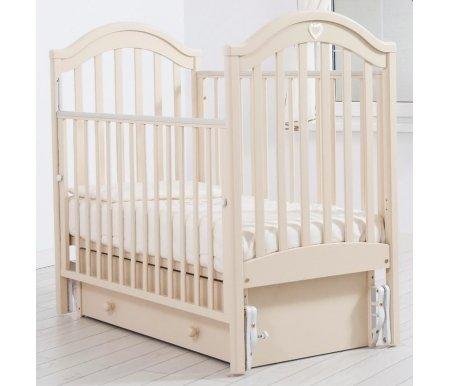 Купить Кровать детская с универсальным маятником Gandylyan, Софи, слоновая кость, ДСП, МДФ, дерево