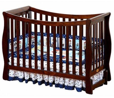 Кровать Fresco chocoloКроватки для новорожденных<br>Изделие легко трансформируется в диванчик или игровую замкнутую площадку, безопасную для ребенка.<br>  <br><br>  <br><br><br>Характерные особенности:<br><br>•Изящество формы.<br><br>•Удобные округлые, изогнутые боковые стенки, что придает кроватке практичность.<br><br>•Плавность линий и мягкие, безопасные углы.<br><br>•Использование возможностей трансформера (3 в 1).<br><br>•Возможность перемещения матраса на три разных по высоте уровня.<br><br>•Верхний уровень – для самых крошечных малышей, нижний – для превращения кроватки в игровую площадку.<br>  <br><br>  <br><br><br>Изделие предназначено для детей от рождения и до семилетнего возраста.<br><br>Размеры основания – 120х60.<br><br>В комплект входят два защитных бортика.<br><br>Используется только экологически чистый массив новозеландской сосны. Для этого вида древесины характерны эластичность, чистота рисунка, глубина и структурированность материала.<br>