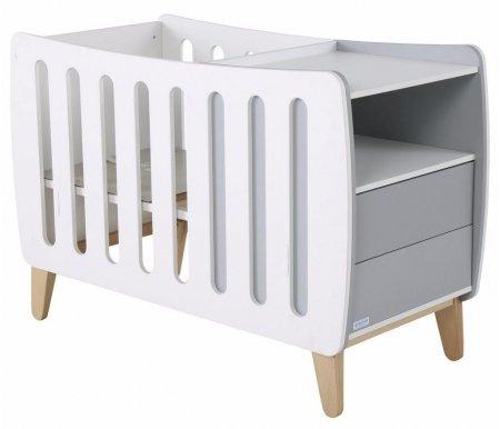 Кровать Micuna Harmony Evolutive Relax white / berlin grey / natural