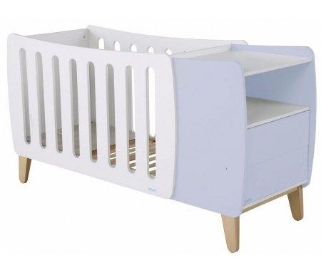 Кровать Micuna Harmony Plus Relax white / pastel blueКроватки для новорожденных<br>Испанские дизайнеры для тех, кто предпочитает креатив, представляют новое изделие – необычную по форме кроватку Harmony, которая радует современным видением интерьера, необычайно стильным и функциональным подходом в решении технических задач. В комплекс входит кроватка-трансформер в виде уютной колыбельки, а также тумба для хранения постельных принадлежностей и детских вещей. Весь комплект представляет собой компактную и многофункциональную конструкцию, удобную в пользовании.<br><br>  <br><br>  Преимущества Relax:<br>    <br>  - облегчает дыхание малыша при простуде;<br>    <br>  - снижает риск удушья в случае срыгивания;<br>    <br>  - снижает накопление газов;<br>    <br>  - значительно снижает риск «синдрома внезапной смерти».<br><br>  <br><br>  Основные характеристики:<br>    <br>  - использование кроватки-трансформера в качестве спального места и колыбели и пеленального столика;<br>    <br>  - трансформация кроватки в специальное пеленальное место для детей до одного года;<br>    <br>  - изменение наклона ложа с помощью системы Relax;<br>    <br>  - регулирование высоты ложа в одной из двух возможных позиций;<br>    <br>  - использование в изделии закрытых шурупов, болтов и безопасных замков в движущихся деталях;<br>    <br>  - отсутствие колесиков на ножках;<br>    <br>  - наличие в комоде открытой полочки и двух ящиков (система «push» – для легкого открывания);<br>    <br>  - в комплект входит матрасик для колыбели.<br>