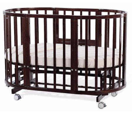 Кровать-трансформер Nuovita Nido Magia махагонКроватки для новорожденных<br>Изделие выполнено из массива бука. Кровать трансформируется в колыбель, подростковую кровать, манеж, кресла и столик, диванчик. <br> <br>  <br> <br> <br>Габариты:<br> <br>Колыбель 81 см x 81 см x 93 см;<br> <br>Детская кровать 131 см x 81 см x 93 см;<br> <br>Подростковая кровать 181 см x 81 см x 76 см.<br>