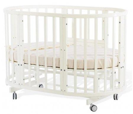 Кровать-трансформер Nuovita Nido Magia ванильКроватки для новорожденных<br>Изделие выполнено из массива бука. Кровать трансформируется в колыбель, подростковую кровать, манеж, кресла и столик, диванчик. <br> <br>  <br> <br> <br>Габариты:<br> <br>Колыбель 81 см x 81 см x 93 см;<br> <br>Детская кровать 131 см x 81 см x 93 см;<br> <br>Подростковая кровать 181 см x 81 см x 76 см.<br>