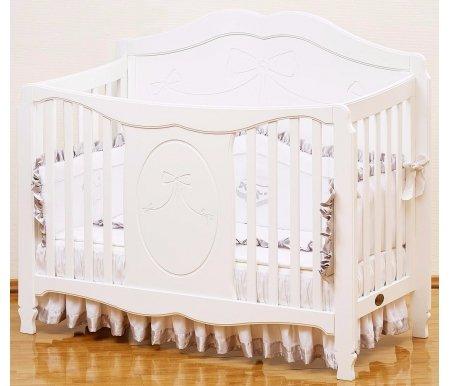 Кровать Valencia GB 1091 whiteКроватки для новорожденных<br>Специальная детская кроватка Giovanni Valencia создана для настоящих маленьких принцесс.<br><br><br>  <br><br><br>Обратите внимание на целый комплекс преимуществ и важных особенностей кроватки:<br><br>•Использование инженерного принципа соединения элементов конструкции (трансформер 3 в 1).<br><br>•Возможность изменения высоты матраса в трех положениях.<br><br>•Верхний уровень матраса – для детей от рождения и до одного года.<br><br>•Возможность использования кроватки, как диванчика или игрового ареала.<br><br><br>  <br><br><br>Размеры под матрас –120х60.<br><br>Производитель для кроватки выбрал натуральную новозеландскую сосну с рядом деталей из МДФ.<br><br>Древесина отличается повышенной эластичностью, отсутствием сучков и глубокой структурой.<br><br>Максимальный срок практического применения изделия – до семи лет.<br><br>Модель отличается от других небывалой королевской роскошью и романтичностью. Утонченность стиля, яркий дизайн, резьба по фасаду придают изделию неповторимую красоту и шарм.<br>