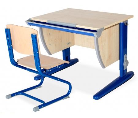 Купить Растущая парта ДЭМИ, Classic СУТ 14 со стулом 01-01 клен / синий, ДСП, МДФ, дерево