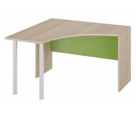 Стол угловой Киви ПМ-139.03Столы<br>Угловой письменный стол для детской комнаты из серии Киви выполнен из качественных и экологичных материалов.<br><br>Ширина: 116,4 см<br>Глубина: 116,4 см<br>Высота: 73,2 см<br>Материал каркаса: ЛДСП<br>Цвет каркаса: ясень Коимбра<br>Материал фасада: ЛДСП<br>Цвет фасада: ясень Коимбра / Панареа