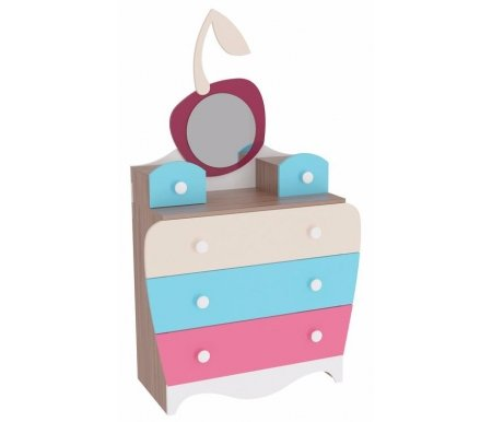 Комод Пряничный домикКомоды<br>Комод Пряничный домик выполнен из ЛДСП. Ножки регулируются по высоте, ящики оснащены роликовыми направляющими.<br> <br>Данная модель входит в модульный набор детской мебели Пряничный домик. Вы можете приобрести комод как отдельно, так и в комплекте.<br> <br>Мебель изготовлена из экологически безопасных материалов.<br> <br>Поставляется в разобранном виде - 4 упаковки.<br><br>Ширина: 95 см<br>Глубина: 52,2 см<br>Высота: 160 см<br>Материал: ЛДСП<br>Цвет: ясень шимо темный<br>Объем упаковки: 0,11 куб. м<br>Вес: 60 кг