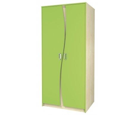 Шкаф для одежды Комби МН-211-16Шкафы одежные<br>Высокий вместительный двухдверный шкаф для одежды. Выполнен из МДФ, имеет яркую расцветку и необычный дизайн. Прекрасно впишется в интерьер детской. Внутри шкафа: место для вешалок и полка сверху.<br> <br> <br>   <br>    <br>   <br> <br>   <br>     <br>      Материал фасада: 18 Egger (Румыния).<br>     <br>      Материал корпуса: ДСП-16/25 Kronospan Szczecinek (Польша).<br>     <br>                      Кромка ПВХ 2.0 мм.<br>     <br>       <br>        Фурнитура и роликовые направляющие: GTV (Польша).<br>       <br>        Ручки - Schwinn (Германия).<br><br>Ширина: 85 см<br>Глубина: 62 см<br>Высота: 183 см<br>Материал: ДСП, ПВХ<br>Цвет: береза / лайм