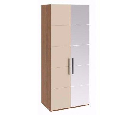Шкаф для одежды Вирджиния СМ-233.07.03 R с зеркалом справа орех вирджиния / сахараШкафы<br><br>