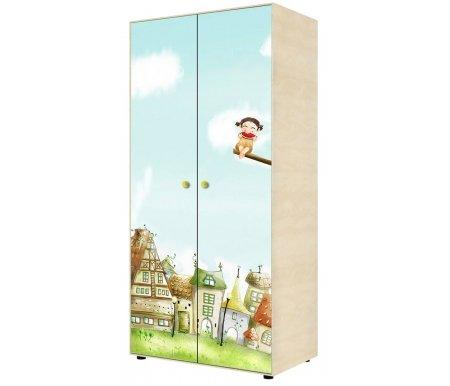 Шкаф двухдверный для одежды Браво 02Шкафы одежные<br>Материал фасада шкафа: ЛДСП с цветной глянцевой наклейкой.<br>