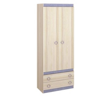 Шкаф двухдверный Индиго 145.10Шкафы одежные<br>Шкаф двухдверный из серии Индиго. Шкаф оснащен выдвижной штангой, ящиками из ЛДСП и крючками.<br><br>Ширина: 87,6 см<br>Глубина: 45 см<br>Высота: 220 см<br>Материал каркаса: ЛДСП<br>Цвет каркаса: ясень Коимбра<br>Материал фасада: ЛДСП<br>Цвет фасада: ясень Коимбра / Навигатор