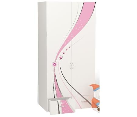 Шкаф двухдверный Принцесс (Princess)Шкафы одежные<br>Шкаф двухдверный Принцесс (Princess) имеет два выдвижных ящика. <br><br> <br>В конструкции мебели применяется ДСП немецкого производства, покрытая современными эмалями, благодаря которым за поверхностями мебели легко ухаживать. Для производства используются исключительно экологически чистые материалы. <br>  <br> <br>  Рисунок нанесен акриловыми красками - они не выгорают на солнце и ребенок их никак не отклеит, это безопасный материал.<br><br>Ширина: 92 см<br>Глубина: 60 см<br>Высота: 196,7 см<br>Материал: ДСП<br>Цвет корпуса: белый, розовый
