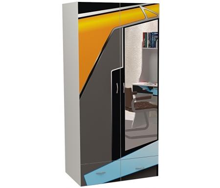 Шкаф двухдверный с зеркалом Пилот (Pilot)Шкафы одежные<br>Шкаф двухдверный с зеркалом Пилот (Pilot) имеет два выдвижных ящика. <br><br> <br>В конструкции мебели применяется ДСП немецкого производства, покрытая современными эмалями, благодаря которым за поверхностями мебели легко ухаживать. Для производства используются исключительно экологически чистые материалы. <br>  <br> <br>  Рисунок нанесен акриловыми красками - они не выгорают на солнце и ребенок их никак не отклеит, это безопасный материал.<br> <br> <br>Этот шкаф вы можете приобрести ибез зеркала.<br><br>Ширина: 92 см<br>Глубина: 60 см<br>Высота: 196,7 см<br>Материал: ДСП<br>Цвет корпуса: серый