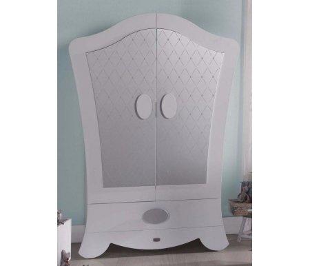 Шкаф Micuna Alexa A-1643 белый с серебряным